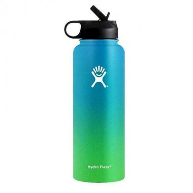 Hydro flask blue green color bottle 32oz 40oz vsco girl