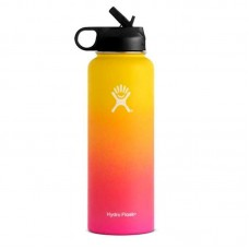 Hydro flask yellow pink color bottle 32oz 40oz vsco girl